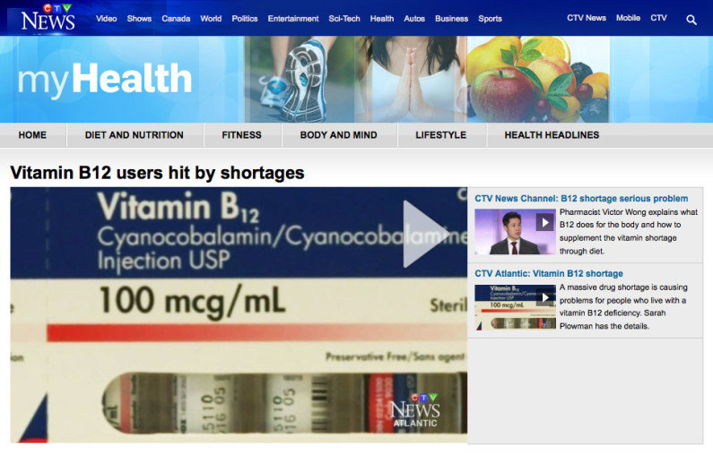 Vitamin B12 Shortages CTV News